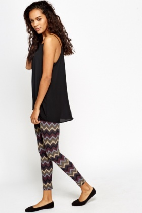 Zig Zag Pattern Leggings