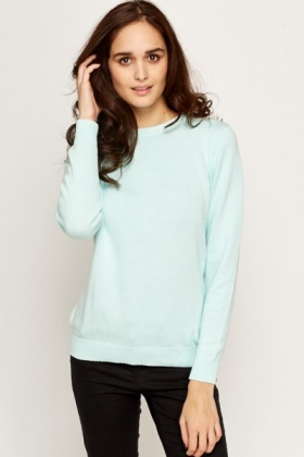 Cotton Ribbed Trim Jumper