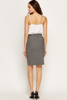 Grey Formal Skirt