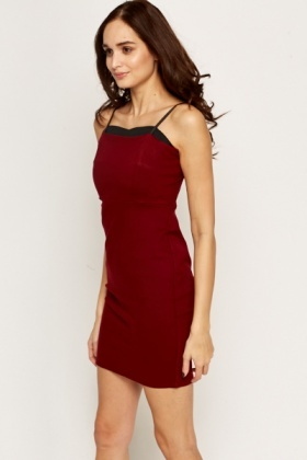 Wine Red Bodycon Dress