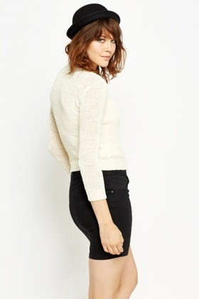 Cotton Blend Round Neck Jumper