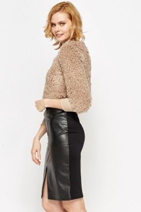 Cropped Fluffy Apricot Jumper