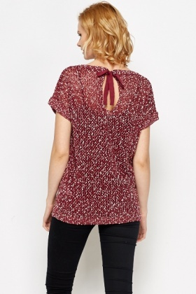Loose Knit Bow Back Top