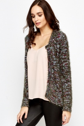 Eyelash Knit Cardigan