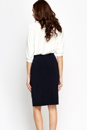 High Waist Formal Skirt