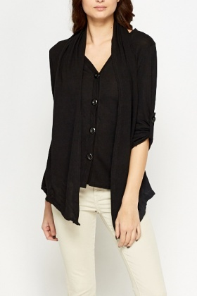 Layered Black Cardigan