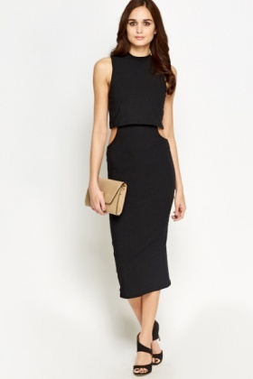 Overlay Cut Out Maxi Dress
