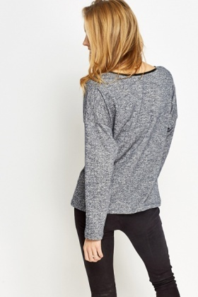Studded Long Sleeve Top