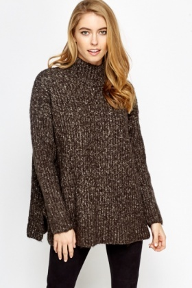 Thick Speckled Roll Neck Jumper