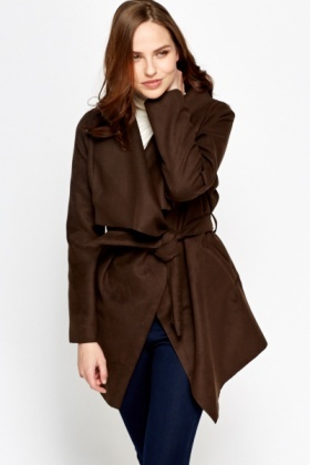 Dark Olive Waterfall Wrap Jacket