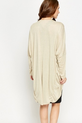 Metallic Gold Long Cardigan