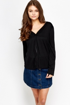 Embroidered Trim Cardigan