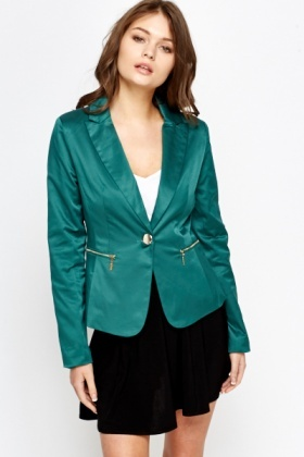 Gold Button Casual Blazer