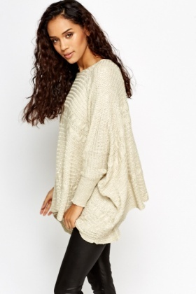 Loose Knit Metallic Box Jumper
