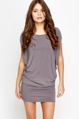 Ruched Side Batwing Tunic