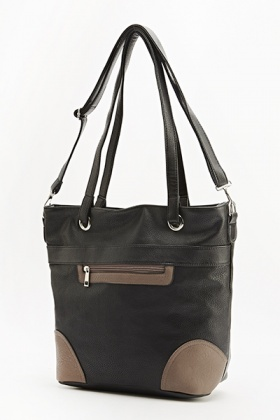 Contrast Colour Trim Handbag