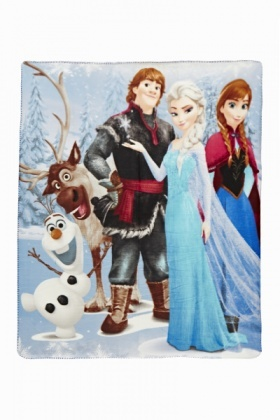Frozen Blue Fleece Blanket