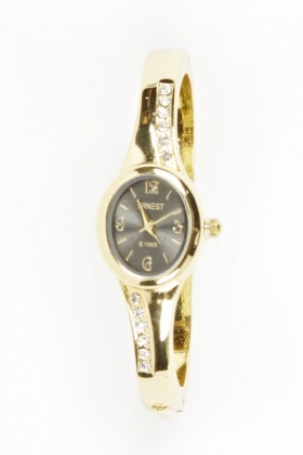 Gold Tone Encrusted Watch