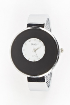 Large Circle Face Bangle Watch
