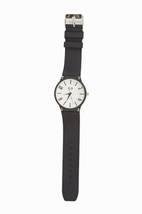 Simple Rubber Strap Watch