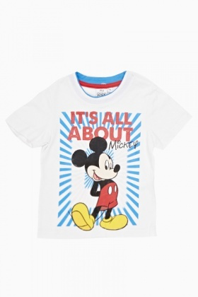 White Mickey Mouse T-Shirt