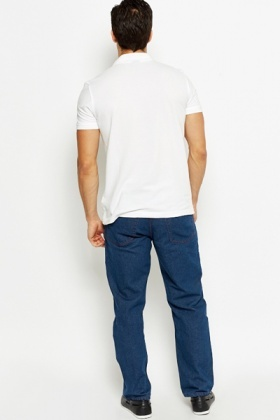 Dark Blue Bootcut Denim Jeans