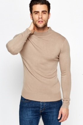 High Neck Knit Jumper