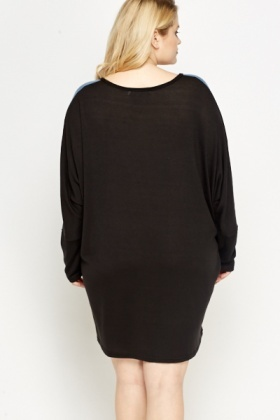 Two Tone Batwing Dress