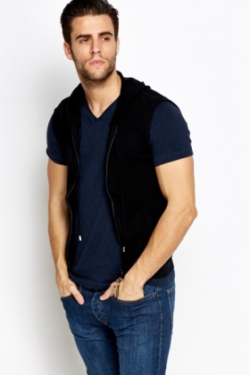 Wool Blend Hooded Body Warmer