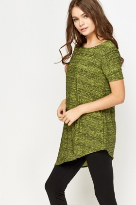Dark Lime Speckled Top