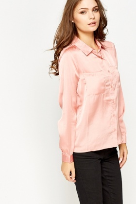 Dark Peach Silky Shirt