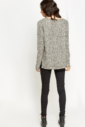 Speckled Chunky Jumper