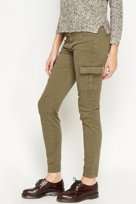 Skinny Fit Pocket Jeans