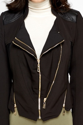 Black Zip Detail Jacket