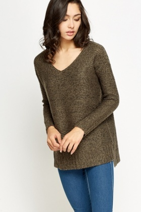 Dipped Hem Knit Jumper