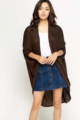 Lapel Drop Back Cardigan