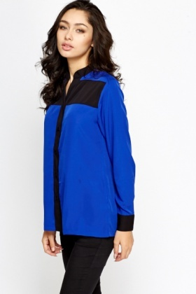 Royal Blue Contrast Shirt