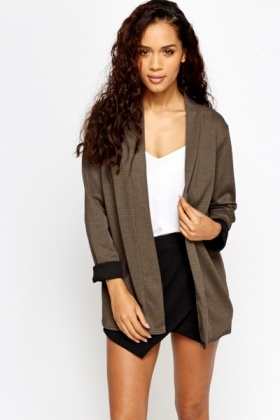 Textured Open Cardigan