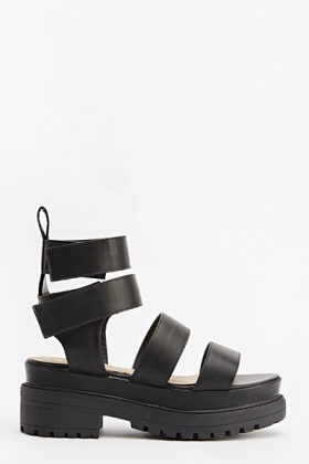 Ankle Strappy Chunky Sandals