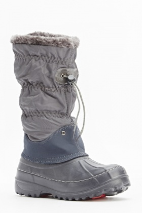 Faux Fur Trim Snow Boots