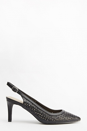 Laser Cut Pointed Slingbacks