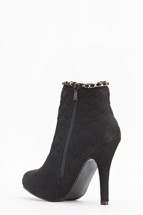 Quilted Chain Trim Boots