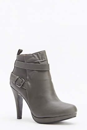 Tapered Ankle Heeled Boots