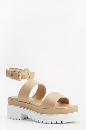 Track Sole Strappy Sandals