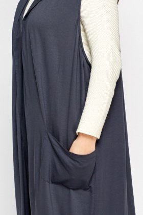 Dark Grey Longline Cardigan
