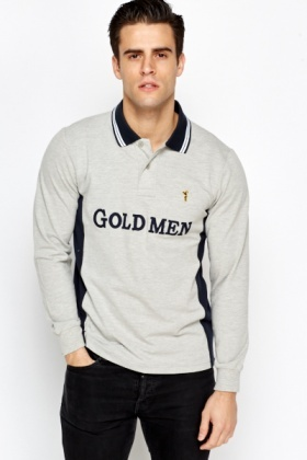 Gold Men Rugby Top