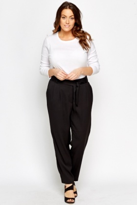 High Waist Black Trousers