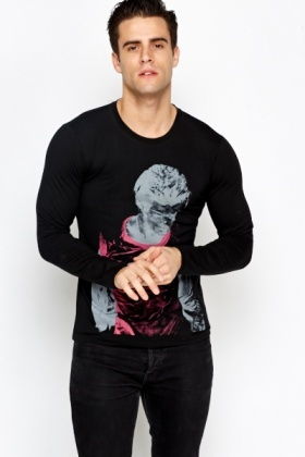 Men Collection Print Top