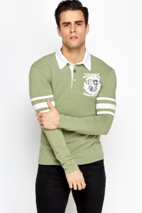 Striped Sleeve Rugby Top