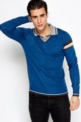 T-Shirt Insert Striped Jumper